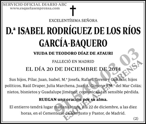 Isabel Rodríguez de la Ríos García-Baquero
